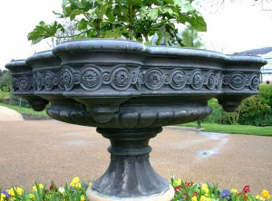 Large bronze planter