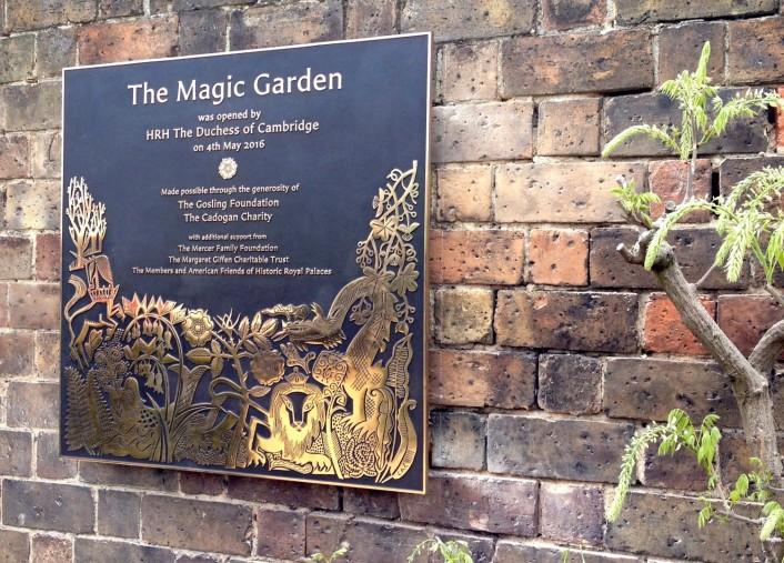 magic garden plaque