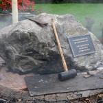 Bronze memorial plaque Installation