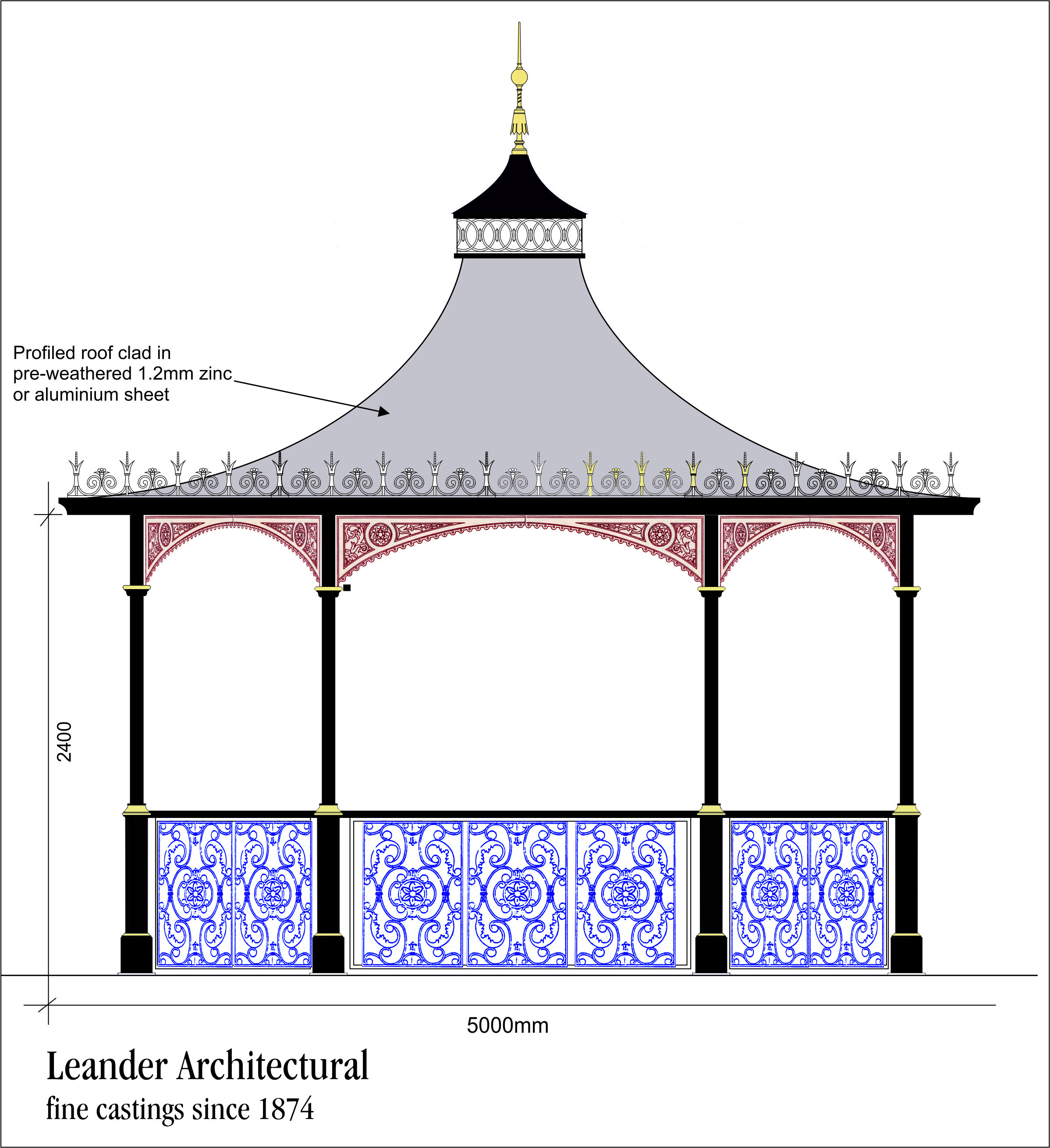 New bandstand for a Yorkshire Garden