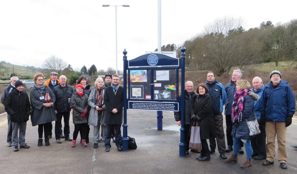 chinley_railway_station_noticeboard_unveiling
