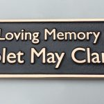 bronze memorial bench plaque